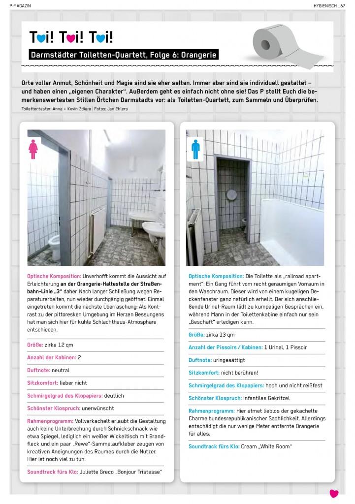 Toilettenquartett Orangerie