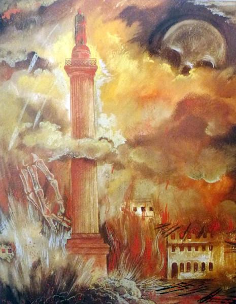 Die Brandnacht in der Erinnerung von Karl Deppert | Abbildung: Kunstarchiv Darmstadt