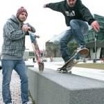 Die Skateboardplaza im Bürgerpark