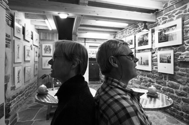 "Gesa Emde und Mirko Krizanovic, Galerie ""Pas de Deux"". St. Marie-en-Chanois, Südvogesen/Frankreich, 2012Foto: Mirko Krizanovic"