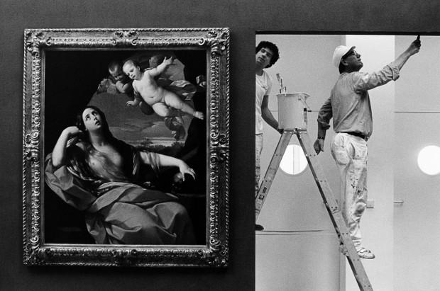 Die Maler in der Schirn, Gemälde von Guido Rein, Kunsthalle Schirn. Frankfurt/M., 1988 Foto: Mirko Krizanovic