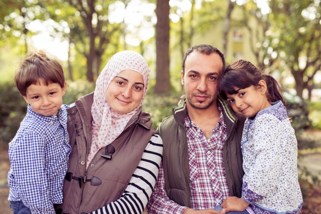 Flüchtlingsfamilie 0918